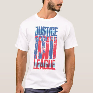 Justice League   Blue & Red Group Pop Art T-Shirt