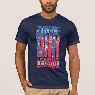 Justice League | Blue & Red Group Pop Art T-Shirt