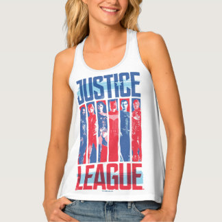 Justice League | Blue & Red Group Pop Art Tank Top