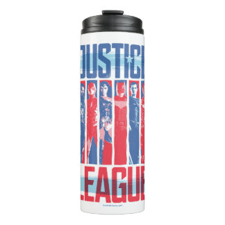 Justice League | Blue & Red Group Pop Art Thermal Tumbler