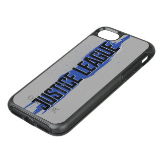 Justice League | Blue Stroke Justice League Logo OtterBox Symmetry iPhone 8/7 Case