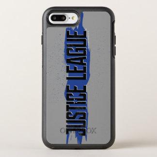 Justice League | Blue Stroke Justice League Logo OtterBox Symmetry iPhone 8 Plus/7 Plus Case
