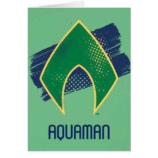Justice League | Brush & Halftone Aquaman Symbol Card