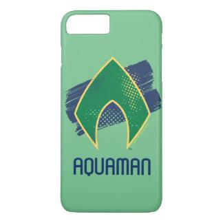 Justice League | Brush & Halftone Aquaman Symbol Case-Mate iPhone Case