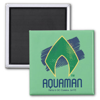 Justice League | Brush & Halftone Aquaman Symbol Magnet