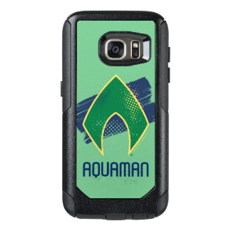 Justice League | Brush & Halftone Aquaman Symbol OtterBox Samsung Galaxy S7 Case