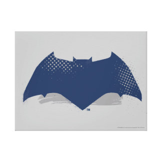 Justice League | Brush & Halftone Batman Symbol Canvas Print