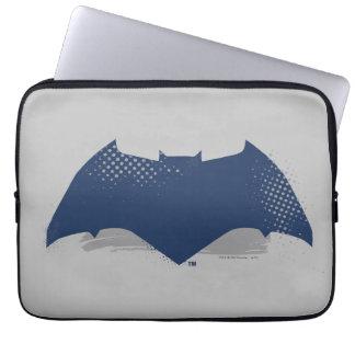 Justice League | Brush & Halftone Batman Symbol Laptop Sleeve