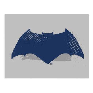 Justice League | Brush & Halftone Batman Symbol Postcard