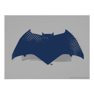 Justice League | Brush & Halftone Batman Symbol Poster