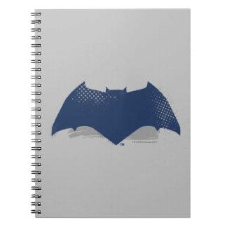Justice League   Brush & Halftone Batman Symbol Spiral Notebook