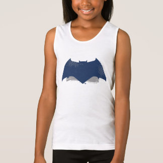 Justice League | Brush & Halftone Batman Symbol Tank Top