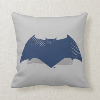 Justice League | Brush & Halftone Batman Symbol Throw Pillow