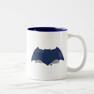 Justice League   Brush & Halftone Batman Symbol Two-Tone Coffee Mug