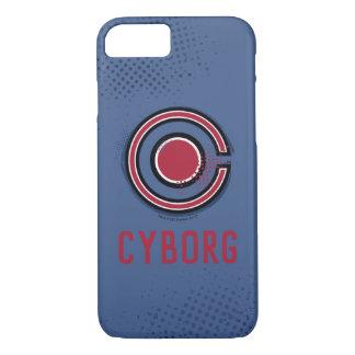 Justice League | Brush & Halftone Cyborg Symbol iPhone 8/7 Case