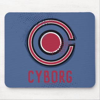 Justice League | Brush & Halftone Cyborg Symbol Mouse Pad