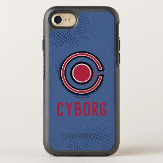 Justice League | Brush & Halftone Cyborg Symbol OtterBox Symmetry iPhone 8/7 Case
