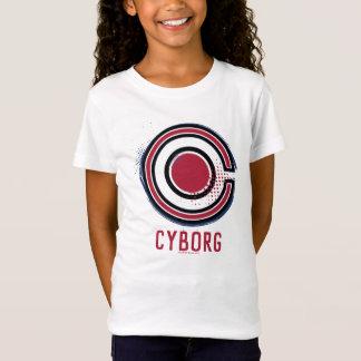 Justice League   Brush & Halftone Cyborg Symbol T-Shirt
