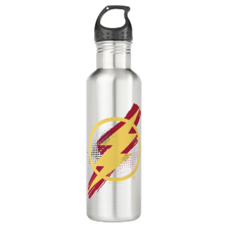 Justice League | Brush & Halftone Flash Symbol 710 Ml Water Bottle