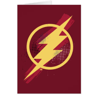 Justice League | Brush & Halftone Flash Symbol Card