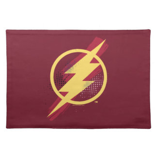 Justice League | Brush & Halftone Flash Symbol Placemat