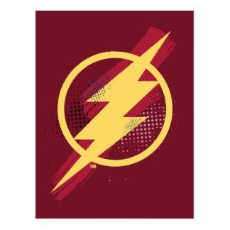 Justice League | Brush & Halftone Flash Symbol Postcard