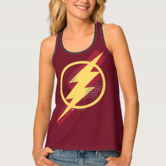 Justice League | Brush & Halftone Flash Symbol Tank Top