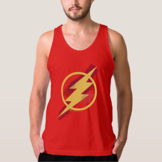 Justice League | Brush & Halftone Flash Symbol Tank Top