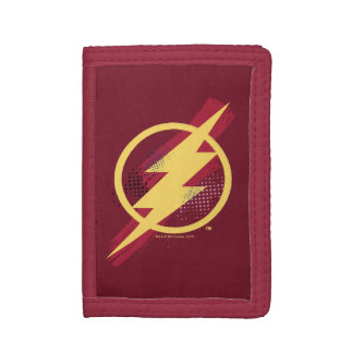 Justice League | Brush & Halftone Flash Symbol Tri-fold Wallets