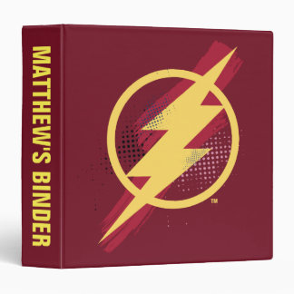 Justice League | Brush & Halftone Flash Symbol Vinyl Binders