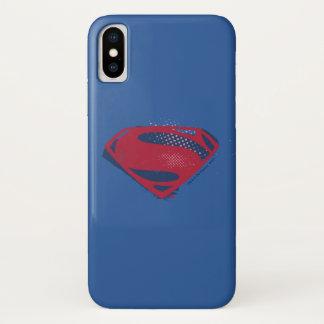 Justice League | Brush & Halftone Superman Symbol Case-Mate iPhone Case