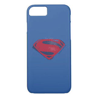 Justice League | Brush & Halftone Superman Symbol iPhone 8/7 Case