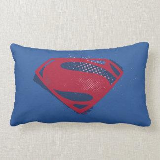 Justice League | Brush & Halftone Superman Symbol Lumbar Pillow