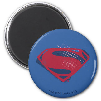Justice League   Brush & Halftone Superman Symbol Magnet