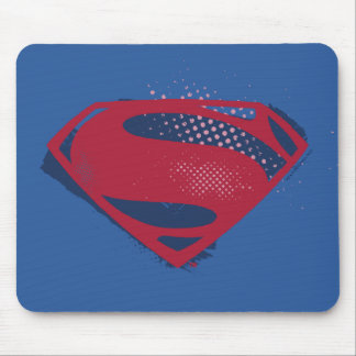 Justice League | Brush & Halftone Superman Symbol Mouse Pad