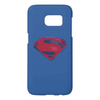 Justice League | Brush & Halftone Superman Symbol Samsung Galaxy S7 Case