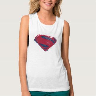 Justice League | Brush & Halftone Superman Symbol Tank Top