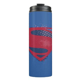 Justice League | Brush & Halftone Superman Symbol Thermal Tumbler