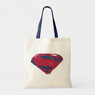 Justice League | Brush & Halftone Superman Symbol Tote Bag