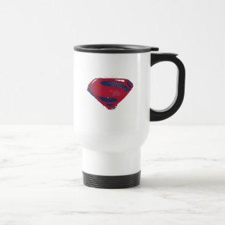 Justice League | Brush & Halftone Superman Symbol Travel Mug