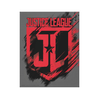 Justice League | Brushed Paint JL Shield Canvas Print