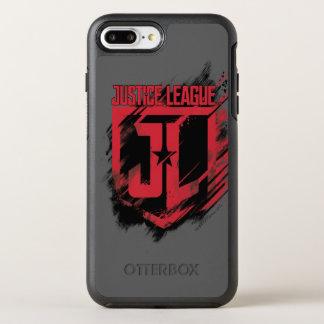 Justice League | Brushed Paint JL Shield OtterBox Symmetry iPhone 8 Plus/7 Plus Case