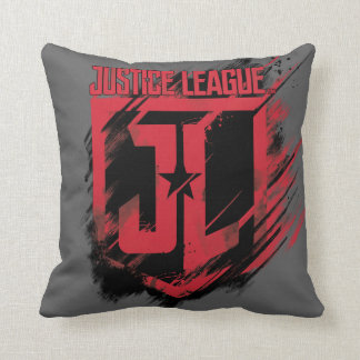 Justice League | Brushed Paint JL Shield Throw Pillow