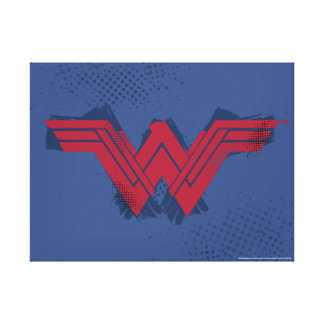 Justice League | Brushed Wonder Woman Symbol Canvas Print