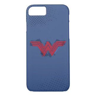 Justice League | Brushed Wonder Woman Symbol iPhone 8/7 Case