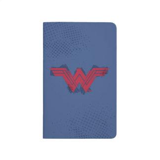 Justice League | Brushed Wonder Woman Symbol Journal