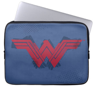 Justice League   Brushed Wonder Woman Symbol Laptop Sleeve