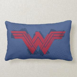 Justice League | Brushed Wonder Woman Symbol Lumbar Pillow