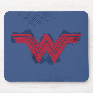 Justice League | Brushed Wonder Woman Symbol Mouse Pad