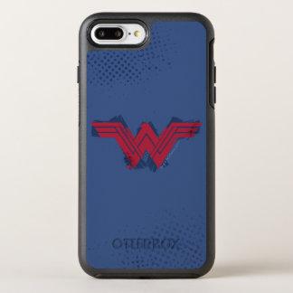 Justice League | Brushed Wonder Woman Symbol OtterBox Symmetry iPhone 8 Plus/7 Plus Case